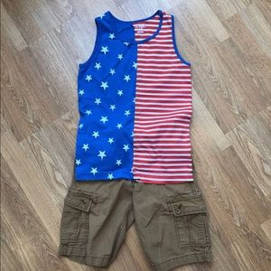 Boys Outfit - shorts & tank - size 8
